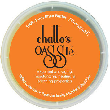 Chatto's Oassis 100% Pure Shea Butter Unscented Skin Moisturizer, 2 oz