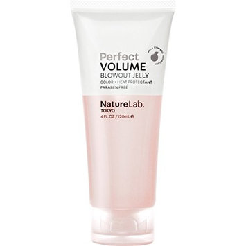 NatureLab. Tokyo – Perfect Volume Blowout Jelly for thicker, fuller hair: Vegan, cruelty free, heat and color protection- 4 fl. oz.