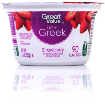 Great Value Light Greek Strawberry Nonfat Yogurt, 5.3oz
