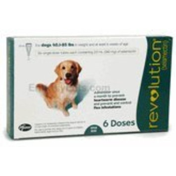 Pfizer Revolution Dog 41-85 lbs. 6 Month Supply Flea & Tick