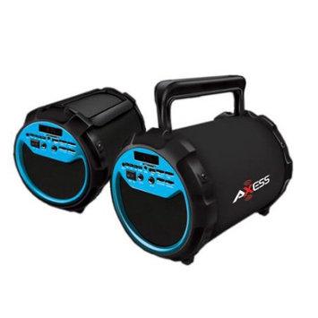 David Shaw Silverware Na Ltd AXESS SPBT1034 2.1 Indoor/Outdoor Bluetooth Karaoke / Speaker W/ Microphone BLUE