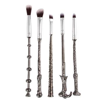 Vander 5pcs makeup brushes Harry Potter Magic Silver Makeup Brushes Set kit