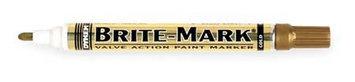 Dykem Valve Action Paint Marker (Brite Mark(R) 916, Gold). Model: 84051