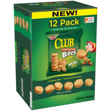 Kellogg Sale Company Keebler Club Peanut Butter Bites Sandwich Crackers 12 Ct Caddies (Pack Of 4)