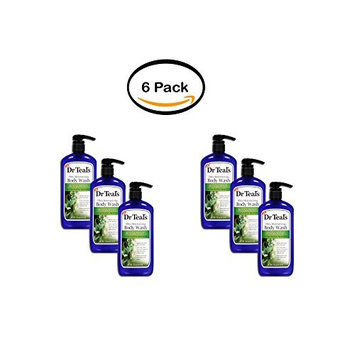 Dr Teal's Ultra Moisturizing Body Wash, Relax & Relief with Eucalyptus Spearmint 24 oz (Pack of 6)