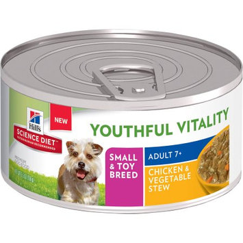 Hills Hill's Science Diet Youthful Vitality Adult Small & Toy Breed Chicken & Vegetable Stew Canned Dog Food, 5.5 oz, Case of 24