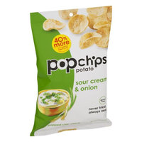 Popchips Inc Popchips Sour Cream & Onion Potato Chips, 5 oz