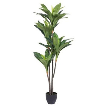 Artificial Real Touch Dracaena (5ft) Green - Vickerman®