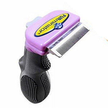 Furminator DeShedding Grooming Tool - Long Hair Cats - Fast And Effective Way To Remove Loose Cat Hair - Has An Ergonomic Handle - Design For Cats With Hair Shorter Than 5cm