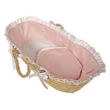 Hoohobbers Baby Pink Doll Moses Basket