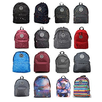 Hype Backpack Bags Rucksack | BLACK WITH BLUE | School Travel Day bag