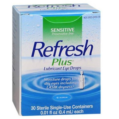 REFRESH PLUS Lubricant Eye Drops (0.4 mL) Single-Use Containers 4-Boxes