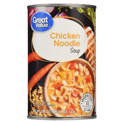 Great Value Soup, Chicken Noodle, 18.6 oz