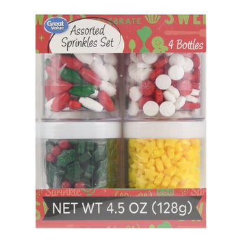 Wal-mart Stores, Inc. Great Value Assorted Holiday Sprinkles Set, 4 Count