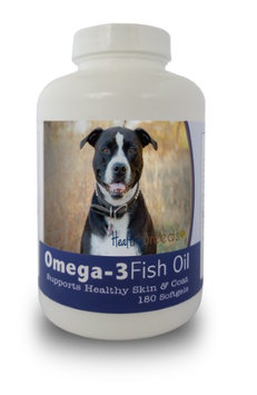 Healthy Breeds 840235141785 Pit Bull Omega-3 Fish Oil Softgels 180 Count