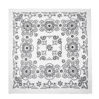 CTM® Unisex 27 Inch Extra Large Cotton Texas Paisley Bandana, White