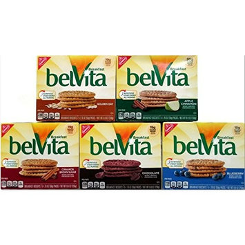 Belvita Breakfast Variety Pack, 5 Different 8.8 Ounce Boxes