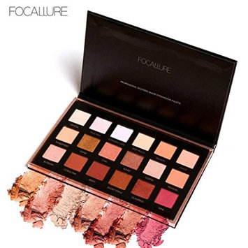 FOCALLURE 18 Colors Eyeshadow Palettes|Pearlized Color Eyeshadow Powder Eye Shadow Palette Set|Eye Shadow Powder Make Up Eye Shadow Palette|Makeup Trays for Eye Shadow