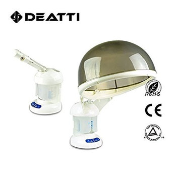 Deatti Portable 2 in 1 Home Hair Steamer and Facial Steamer Nano Ionic Loreal Pro Personal Table Spa Face Sprayer Skin Care