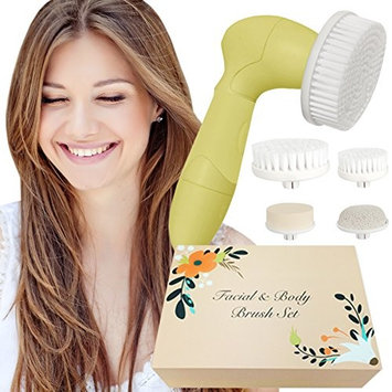Skin Cleansing System Facial Brush & Body Care Kit - Vintage Citrus Facial Brush