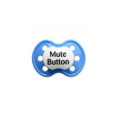 BooginHead Mute Button Blue Pacifier