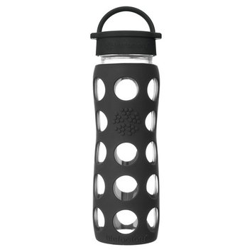 Glass Water Bottle with Classic Cap and Silicone Sleeve Core 2.0 Onyx - 22 fl. oz.