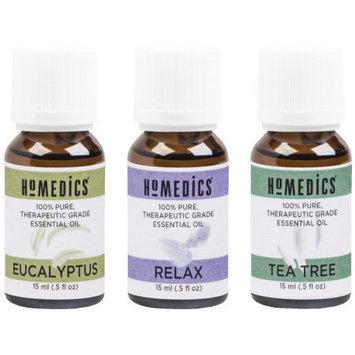 Homedics Armh-eo15ap1 Relax Sampler, 3 Pk, eucalyptus, Tea Tree & Relax Blend