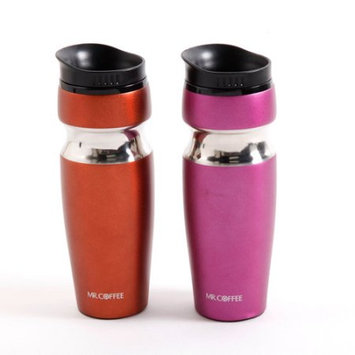 Gibson Overseas Incorporated Mr. Coffee Beltallic 14-Ounce Travel Bottles, 2-Pack