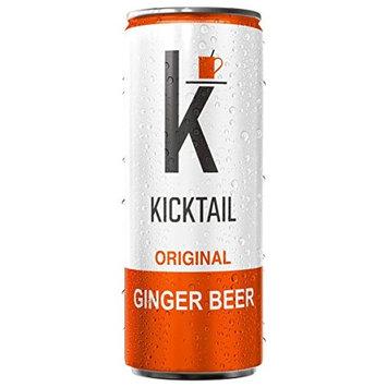 Kicktail Mixer (Original Ginger) Enhanced Electrolytes Premium Cocktail Mixer 12 Pack 12 Fl OZ