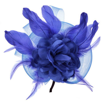 Womens Headpieces, Coxeer Cocktail Fascinators Pillbox Hats Flower Feather Headwear Hair Accessories for Party