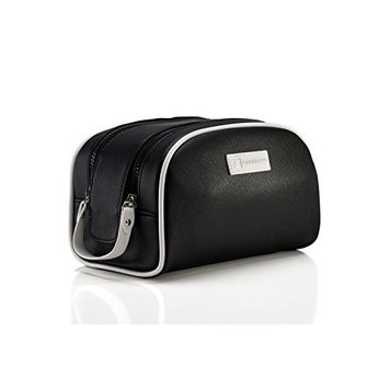 Toiletry Bag For Men & Women | Leather Dopp Kit, Shaving & Cosmetic Bag by Fabbrotti
