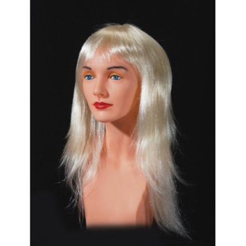 Star Power Woman Punk Wispy Layers Long Costume Wig, Blonde, One Size