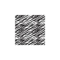 Amscan 224794 20''H x 20''W Black and White Zebra Striped Tissue Paper - 8 Sheets