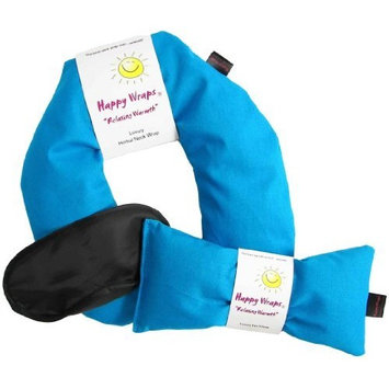 Herbal Neck Wrap Microwavable & Free Gift Sleep Mask | Hot Cold Aromatherapy Heating Pad for Shoulder & Neck Pain Relief Pillow | Stress & Migraine Relief | Heat or Freeze | Happy Wraps -Turquoise