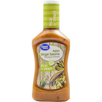 Great Value Asian Ginger Sesame Rich & Tangy Dressing & Marinade