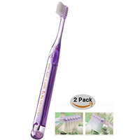 Sky Implant Care Toothbrush [2 Pack] Super Soft Toothbrush for Peri-implantitis Prevention and Sensitive Gums (Implant Care A)