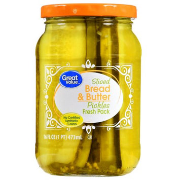 Wal-mart Stores, Inc. Great Value Sliced Bread & Butter Pickles, 16 oz