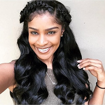 13x6 Brazilian Remy Hair Lace Front Wigs Body Wave Glueless Human Hair Wigs Pre Plucked With Baby Hair For Black Women
