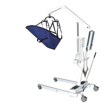 Drive Medical Electric Patient Lift with Removable Rechargeable Battery, White