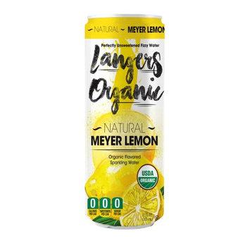 Langers Organic Sparkling Water, Meyer Lemon, 12 Fl Oz (Pack of 8)