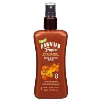 Hawaiian Tropic Protective Tan Lotion Spf#8 6.8oz (2 Pack)