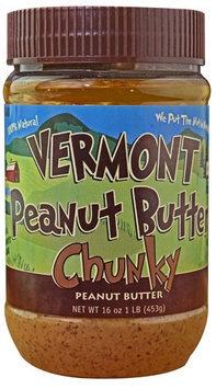 Vermont Peanut Butter Chunky Peanut Butter 16 oz - Vegan