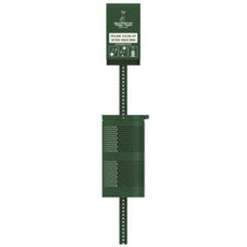 Poopy Pouch Header Pet Waste Station With 10-Gallon Trash Can, Hunter Green