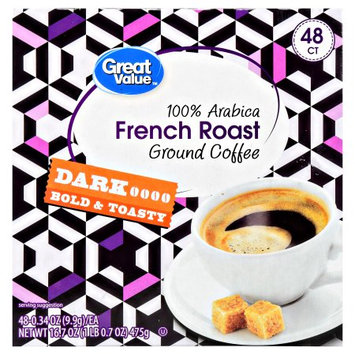 Wal-mart Stores, Inc. Great Value French Roast Ground Coffee Single Serve Cups, Dark Roasted, 48-0.34 oz