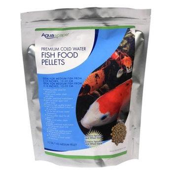 Aquascape Premium Cold Water Fish Food Pellets for Small to Medium Koi and Pond Fish, Medium Pellet, 2.2 Pounds | 98871 [Medium Pellet]
