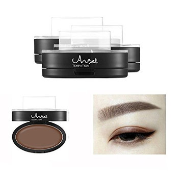 Fullkang Brow Stamp Powder, Delicated Natural Perfect Enhancer Straight United Eyebrow