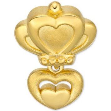 Double Heart Braided Bracelet in 24k G