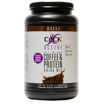 Click Active Coffee Protein Drink Mix, Mocha, 1.7 Lb