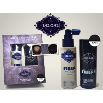 Piz-zaz Hair Building Fibers All Natural Organic Thickening System Instantly Conceal Balding 0.98 oz in