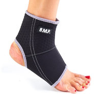 Black Mountain Products Ankle Brace Black M Breathable Lightweight Neoprene Black Ankle Brace, Medium